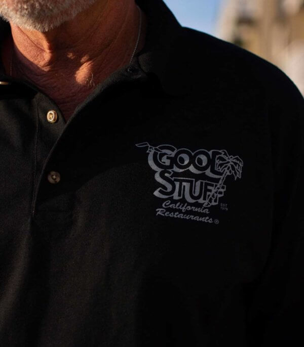 good stuff polo shirt - men front logo