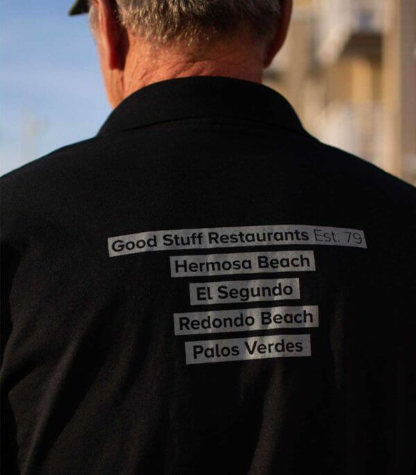 good stuff polo shirt - men back graphic