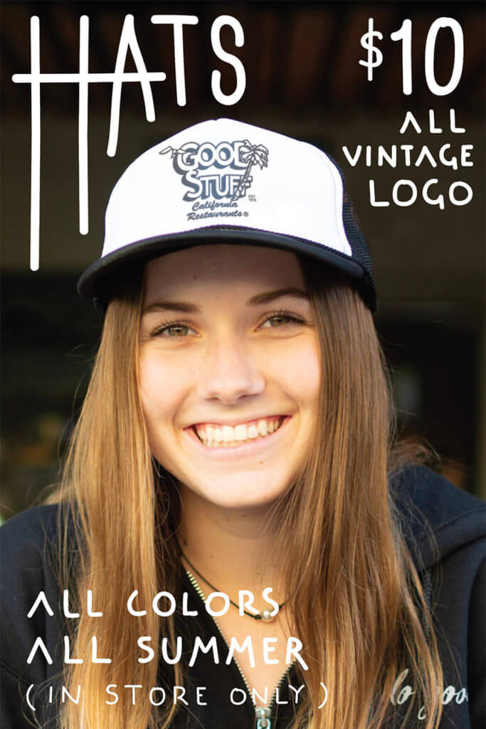 $10 Hats. All vintage logo hats. All colors. All Summer. (in store only)
