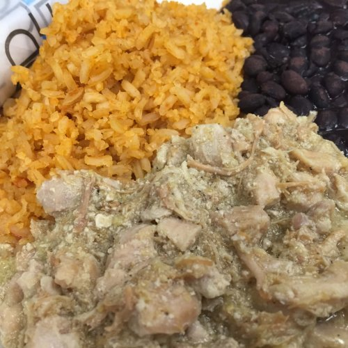 CASA - Chicken Chile Verde Platter