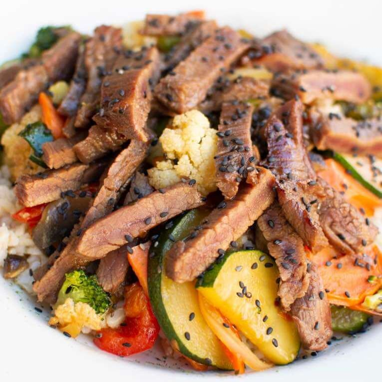 Cameron's Teriyaki Steak & Veggie Bowl