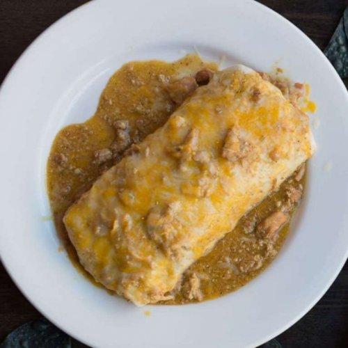 Chicken Chile Verde Breakfast Burrito