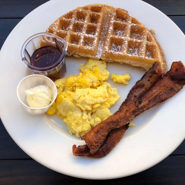 KIDS - Belgian Waffle Half with eggs2